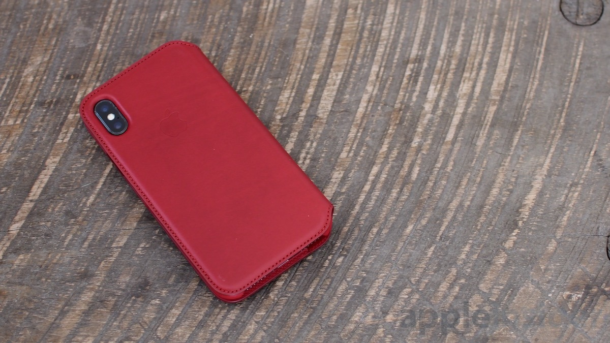 newest collection 6e98a cd2f3 First look: iPhone X (PRODUCT)RED Leather Folio Case