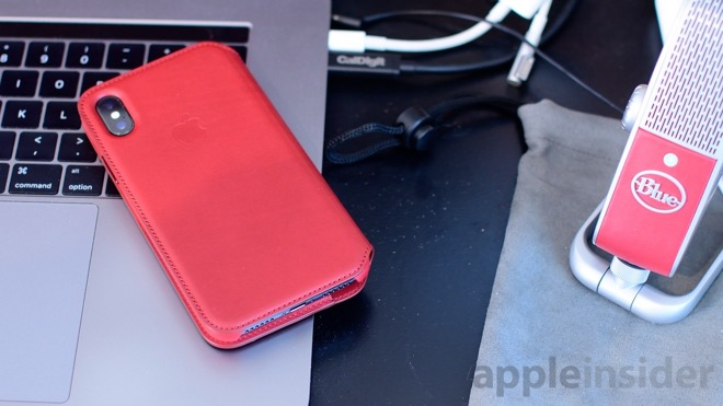 newest collection b424e 065df First look: iPhone X (PRODUCT)RED Leather Folio Case