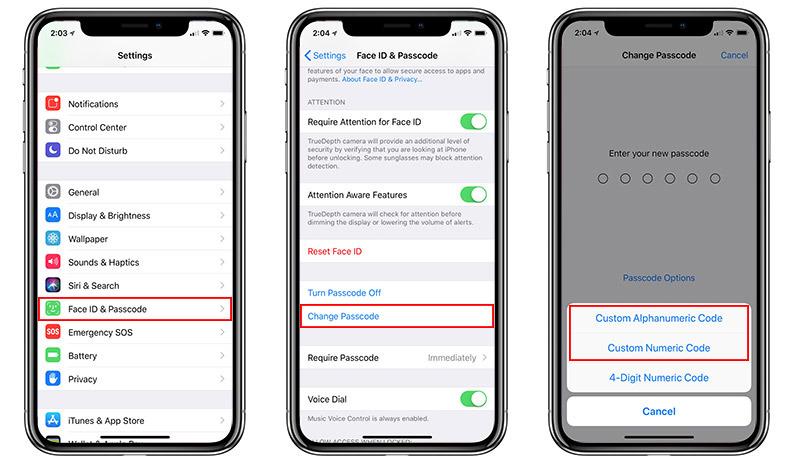 Create a new iOS Passcode