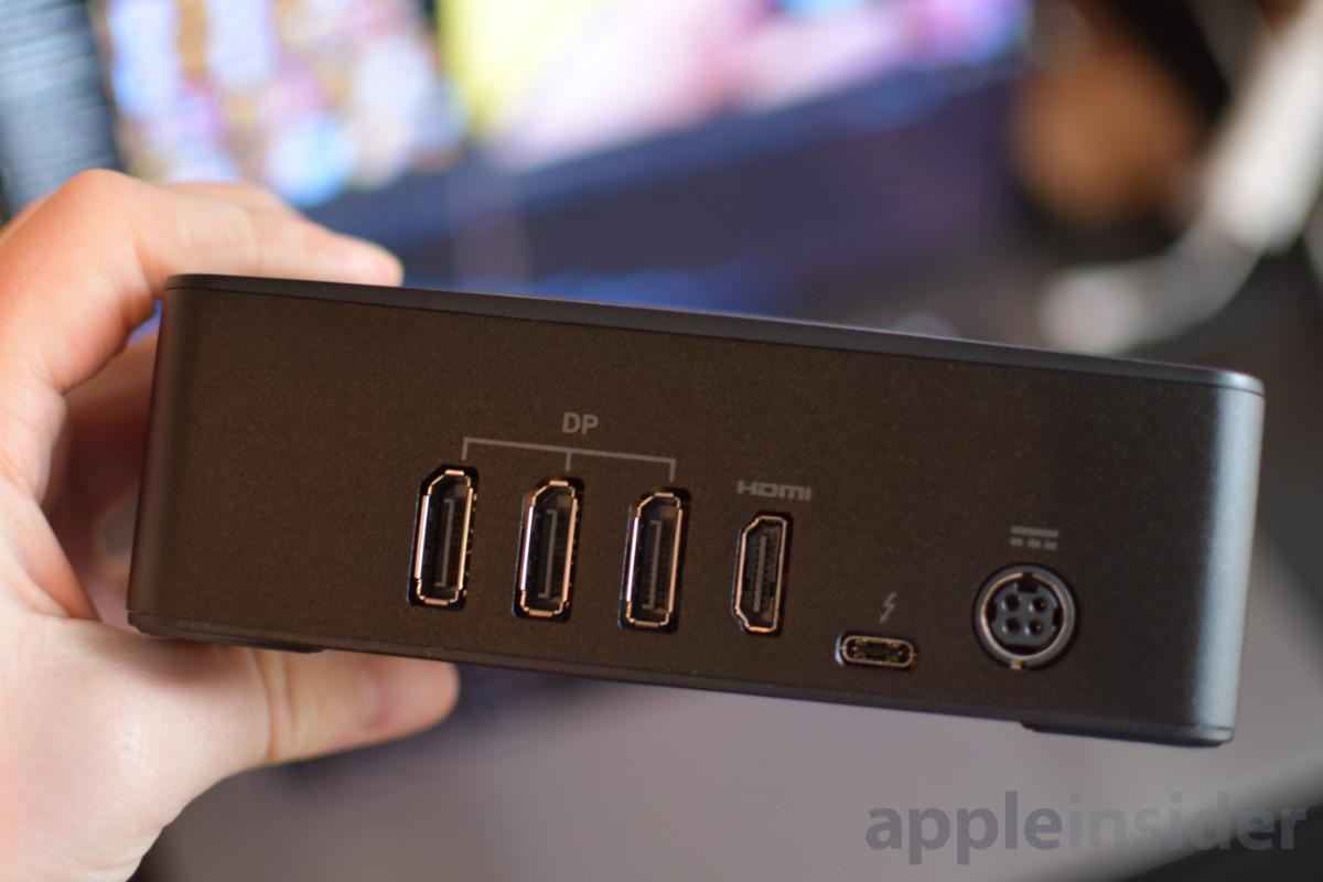 Sonnet eGFX Breakway Puck DisplayPort and HDMI Ports