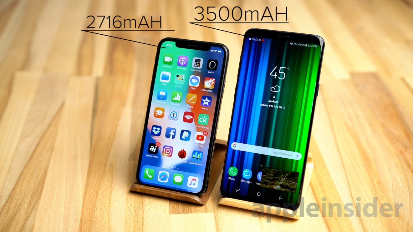 Watch: iPhone X vs  Galaxy S9 Plus battery charging times