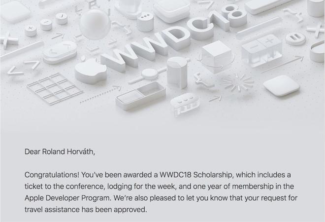 WWDC 2018 Scholarship