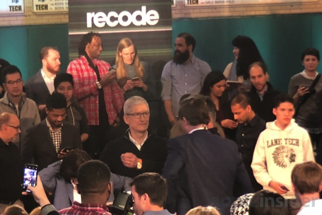 Tim Cook at the Field Trip event in Chicago in March 2018