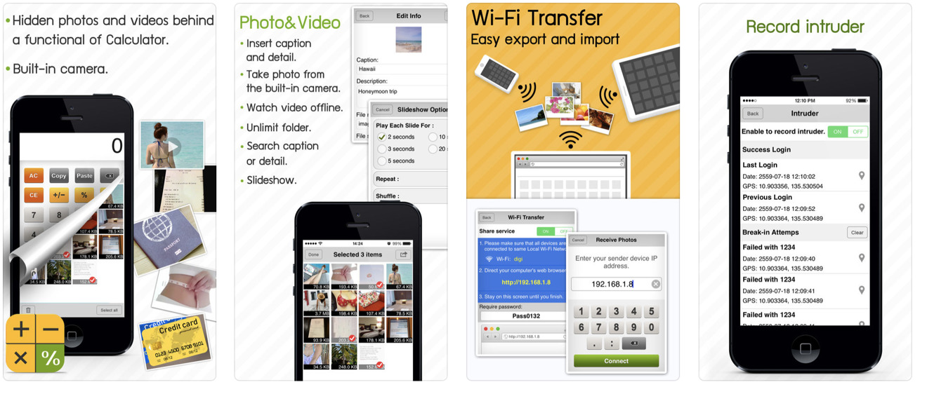 Private Photos app from app store