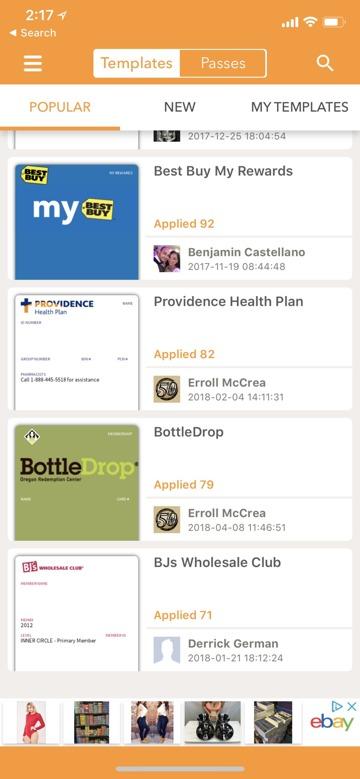 Pass2U Wallet App