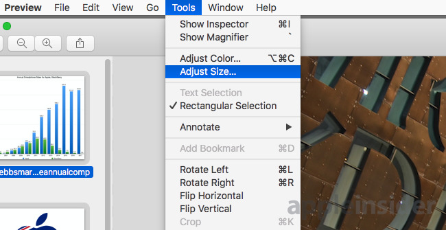 How to batch resize your image collection using Preview in macOS