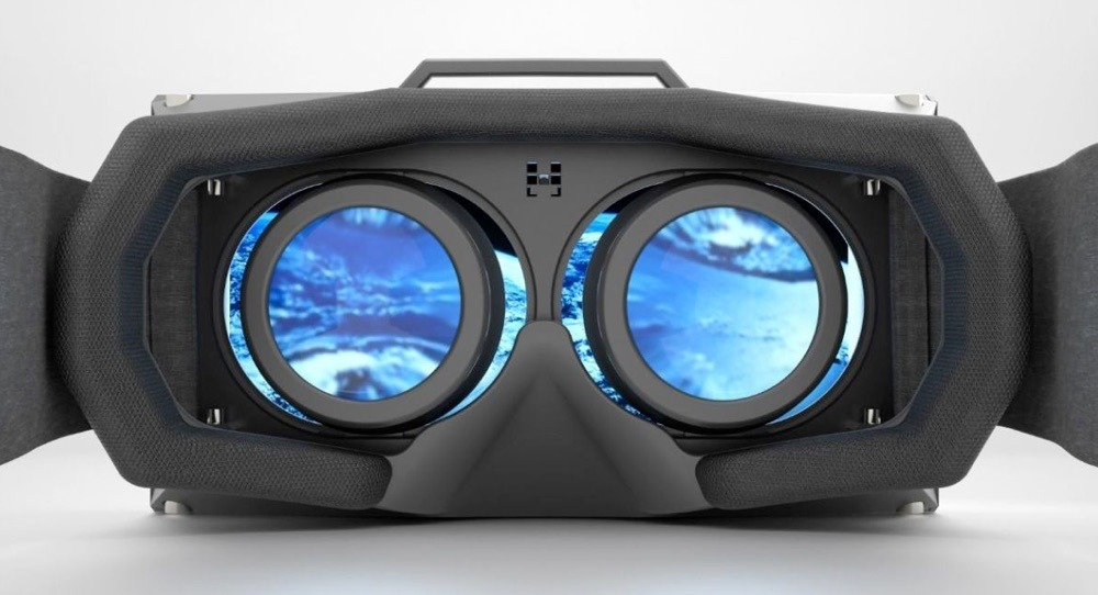 VR headset lens view