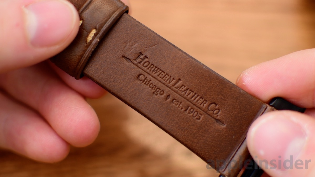 Nomad Apple Watch Strap Horween leather