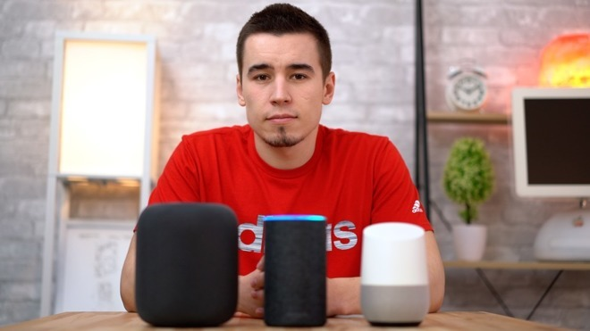 HomePod Siri Alexa Amazon Echo Google Home Assistant