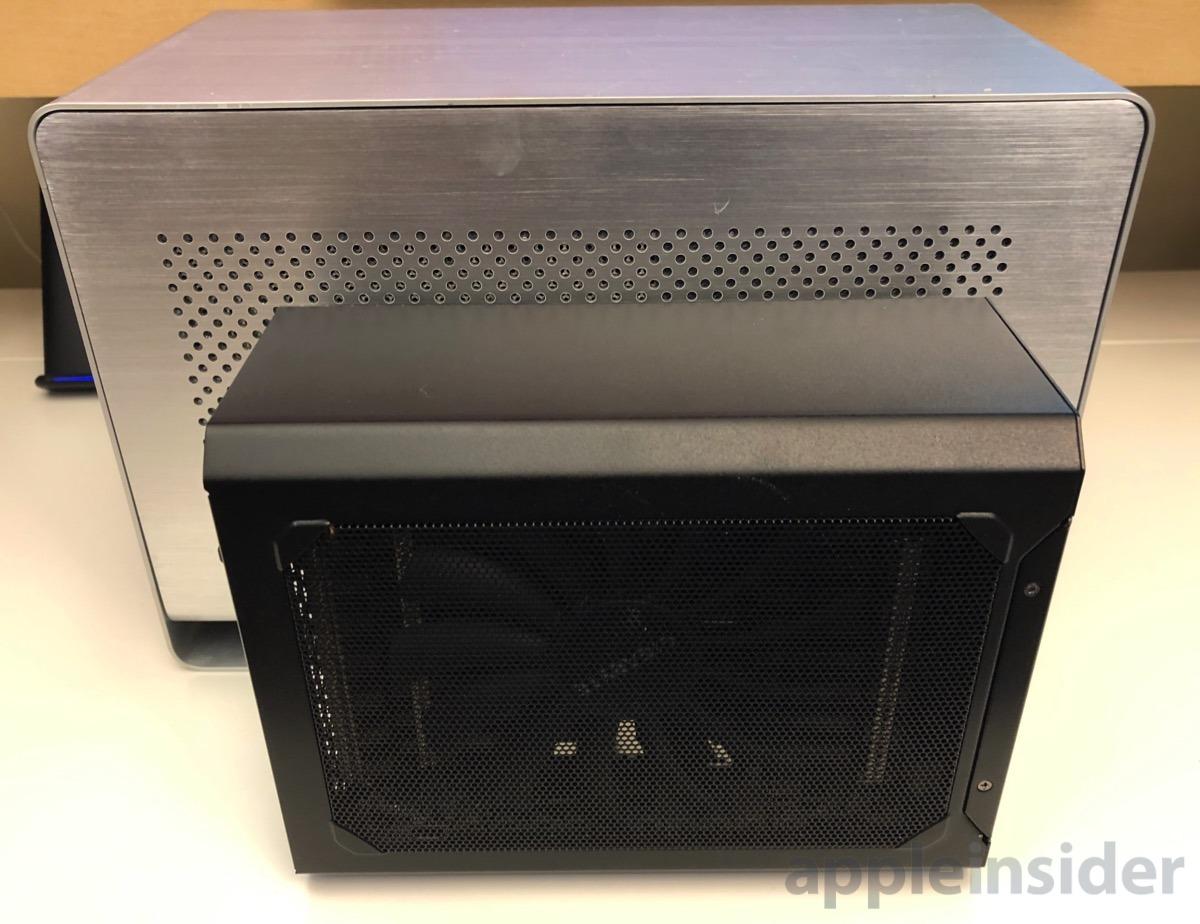 Gigabyte RX 580 Gaming Box versus Mantiz MZ-02 eGPU enclosure