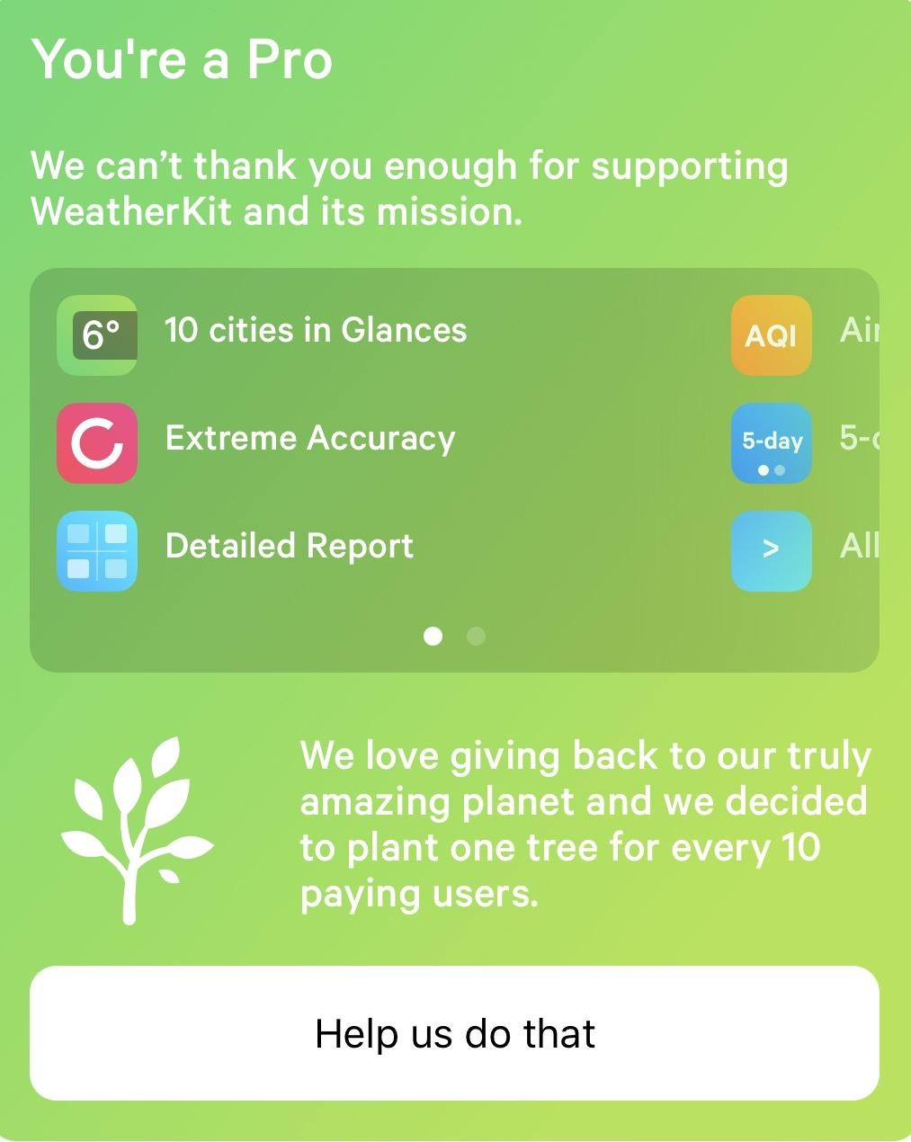 WeatherKit Pro Features