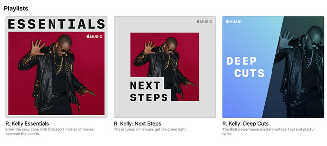 Apple Music pulled R  Kelly from curated playlists weeks ago