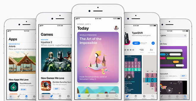 The App Store front page