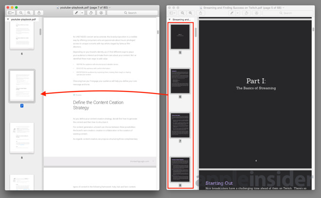 How to merge together multiple PDF documents using Preview