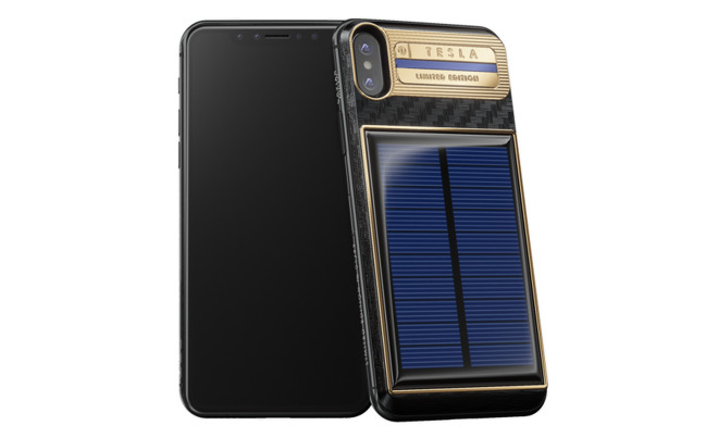solar powered iphone x 39 tesla 39 by caviar goes on sale for. Black Bedroom Furniture Sets. Home Design Ideas