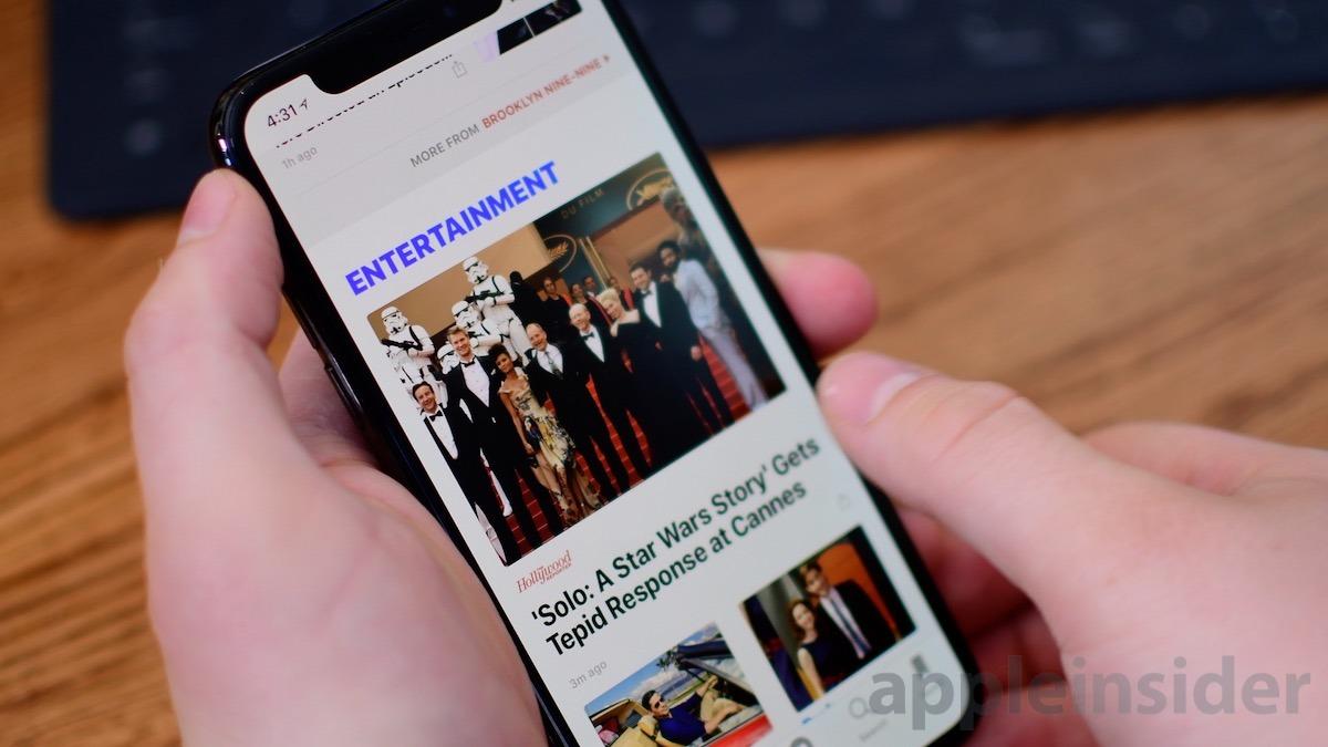 Apple News Entertainment Section