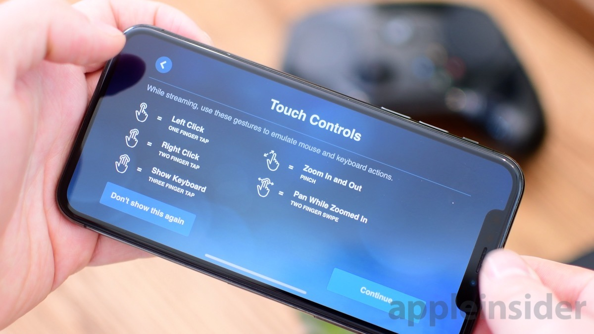 Steam Link Touch Controls