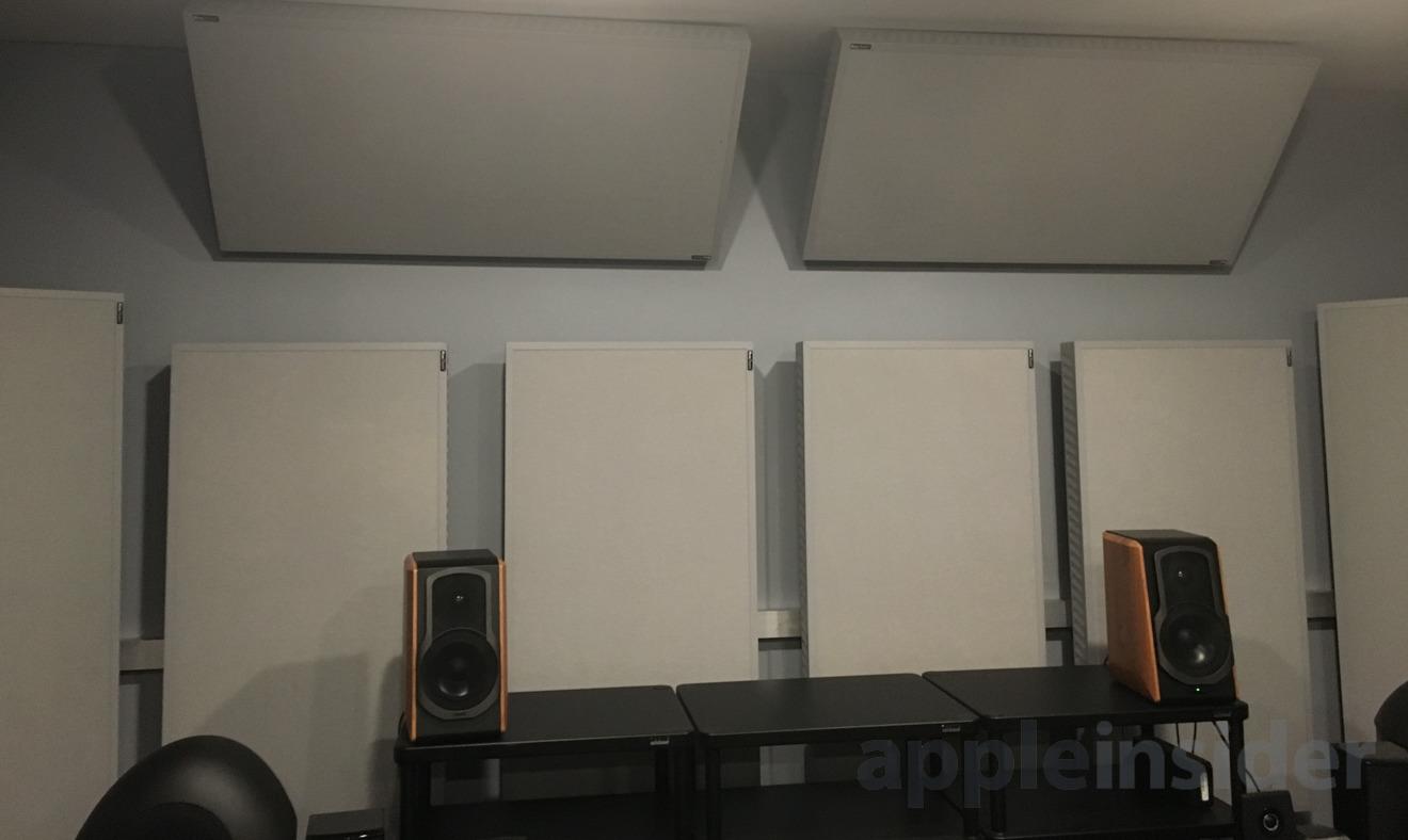 Consumer Reports' audio testing room