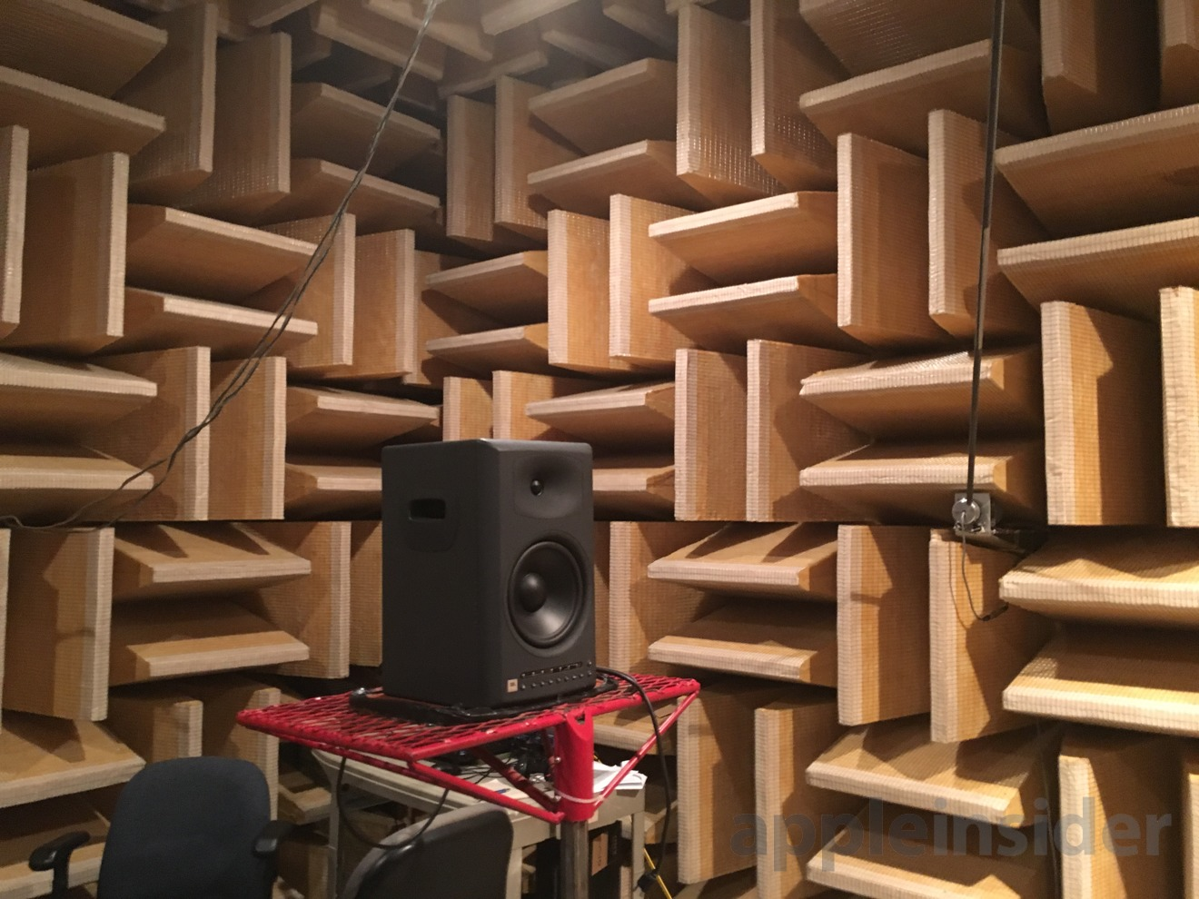Consumer Reports' anechoic chamber