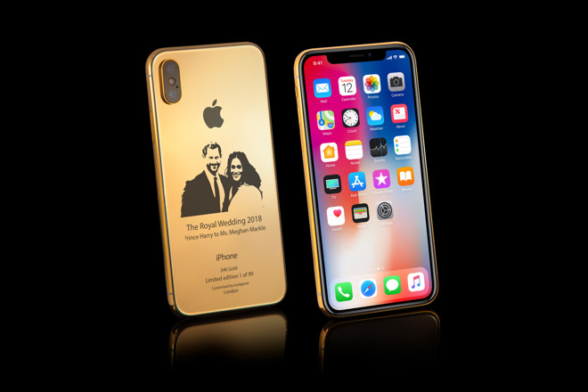 Gold Iphone X Royal Wedding