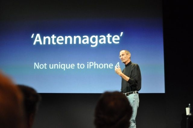 Steve Jobs during the Antennagate controversy