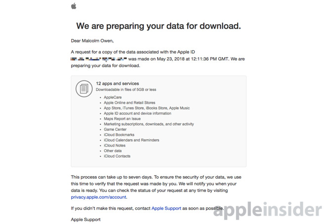How to request your personal data using Apple's Data & Privacy portal