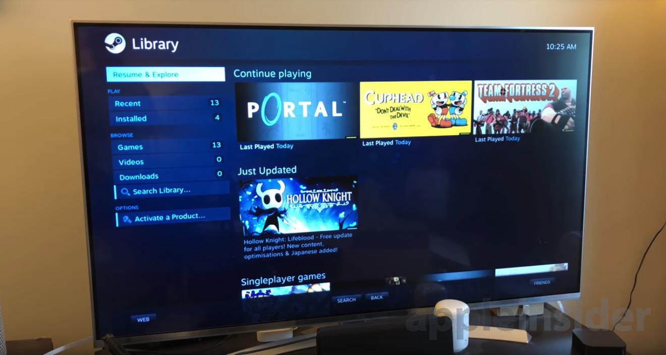 Steam Link running on an Apple TV
