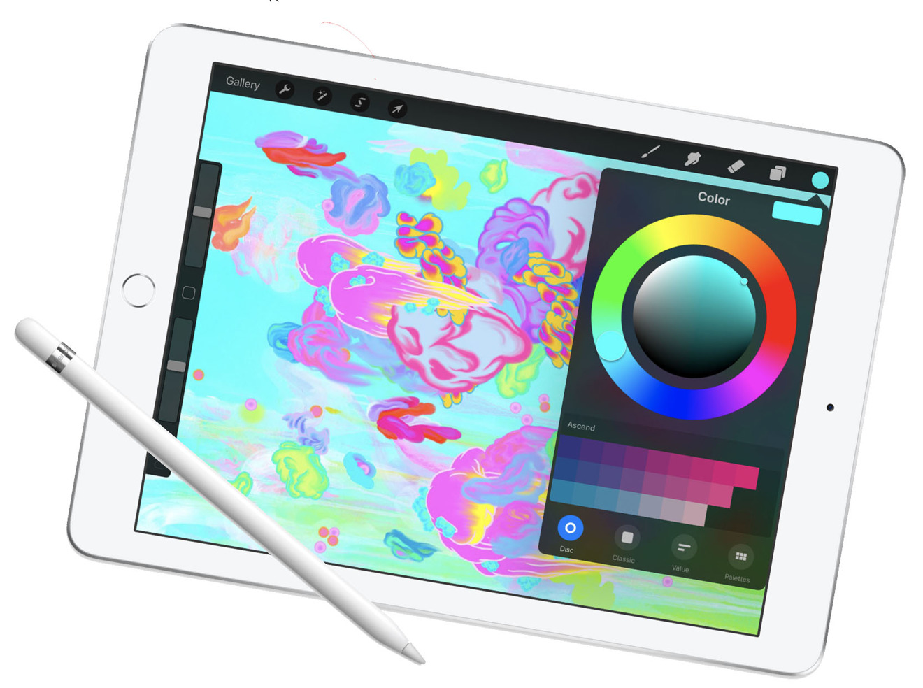 2018 iPad with Apple Pencil support