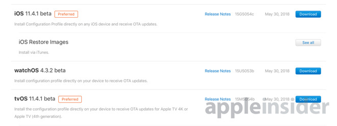 Apple rolls out first developer betas for iOS 11 4 1, tvOS