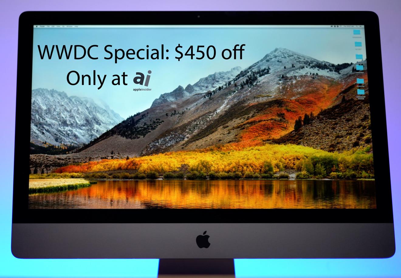 Apple 27 inch iMac Pro desktop computer