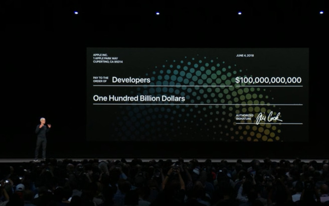 Apple has paid out $100 billion to developers since the App