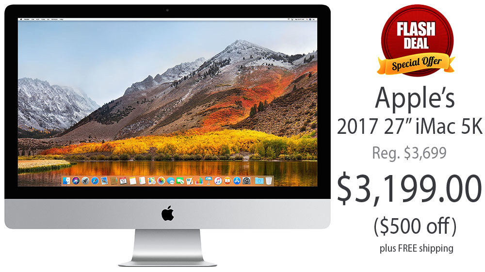 Apple Mid 2017 27 inch iMac with Retina 5K Display Radeon 580 graphics