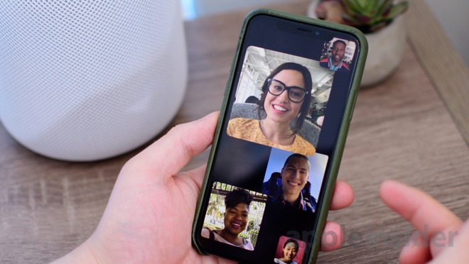 This is what a Group FaceTime video call in iOS 12 looks like