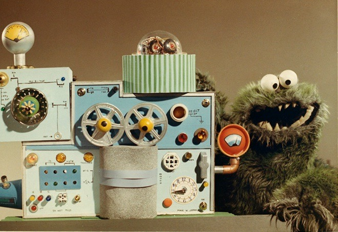 One of the earliest Muppets, from an IBM training film.