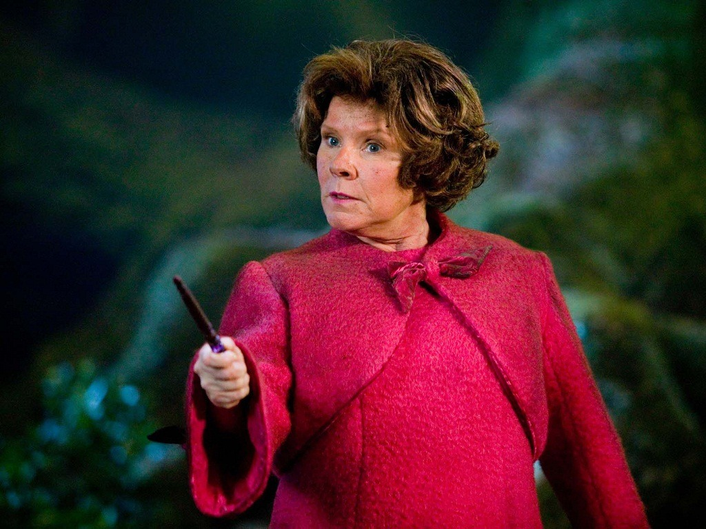 Imelda Staunton as Dolores Umbridge.