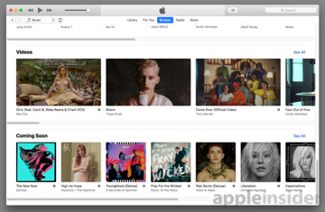 Apple Music adds 'Coming Soon' list alongside new album launch details
