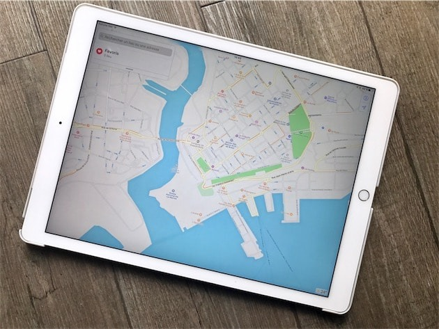Apple Maps on iPad Pro