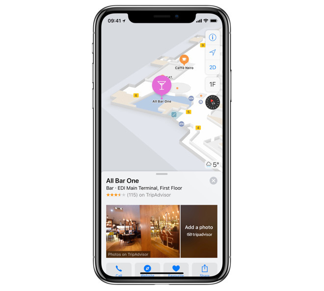 Apple Maps on iPhone X