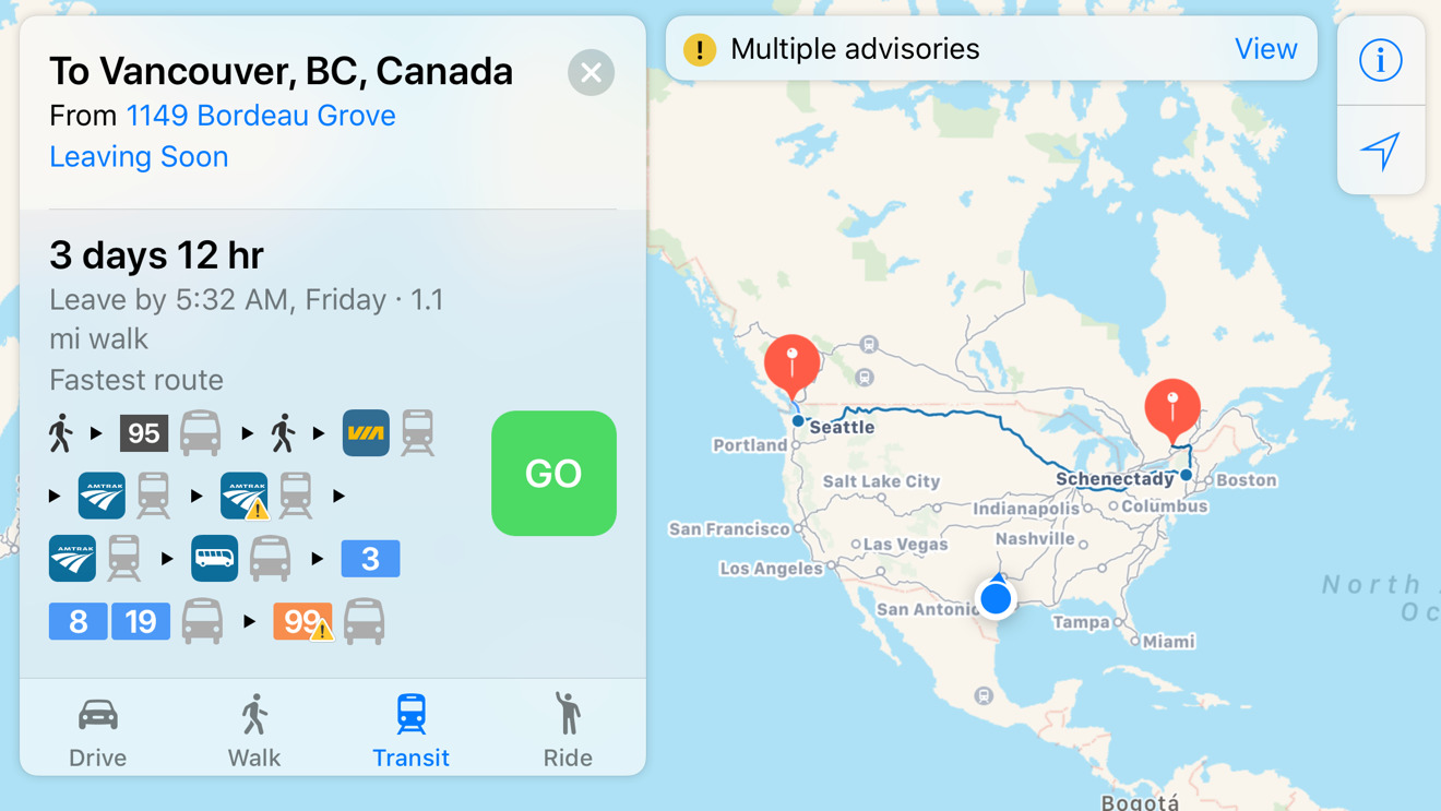 Apple Maps - VIA Rail