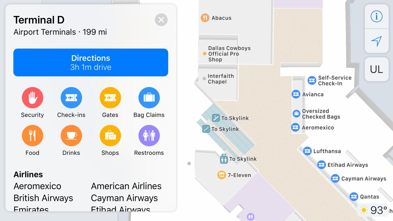 Apple Maps DFW