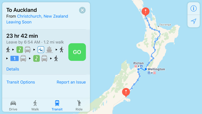 Apple Maps New Zealand