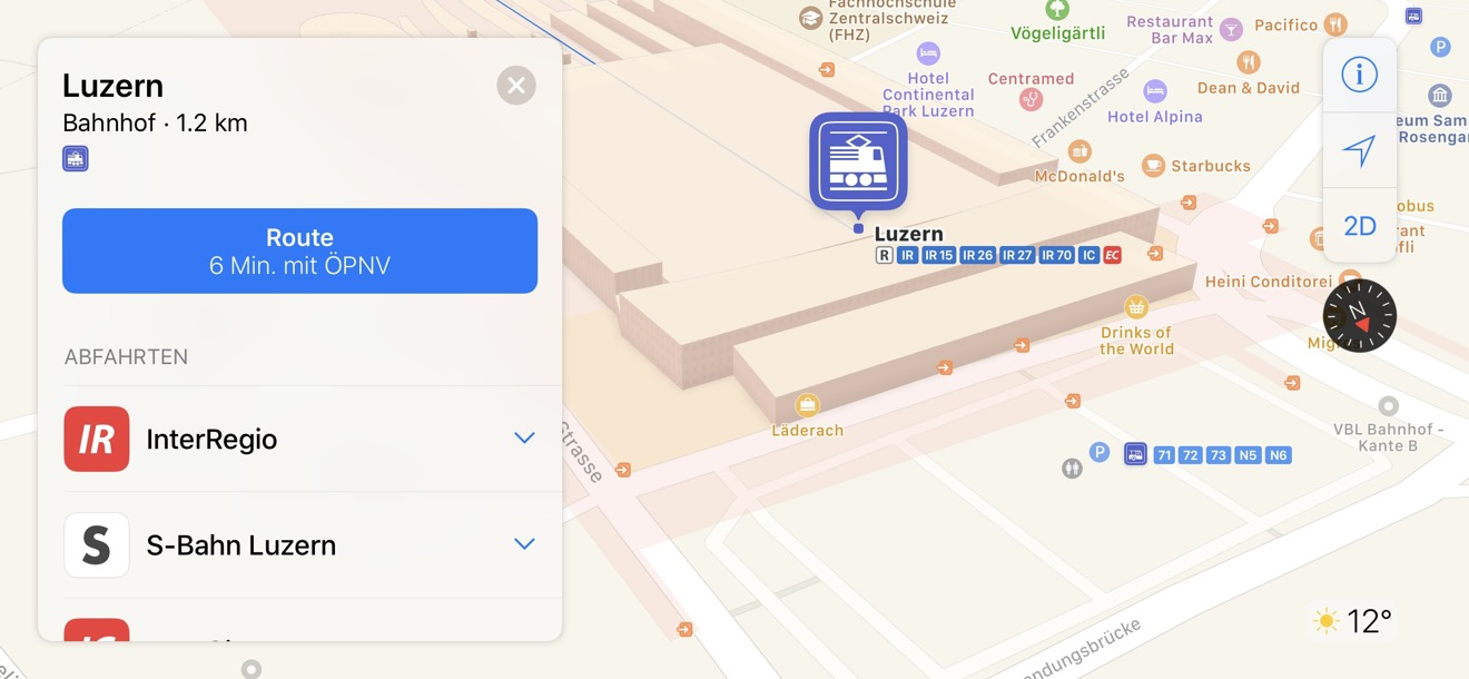 Apple Maps Switzerland