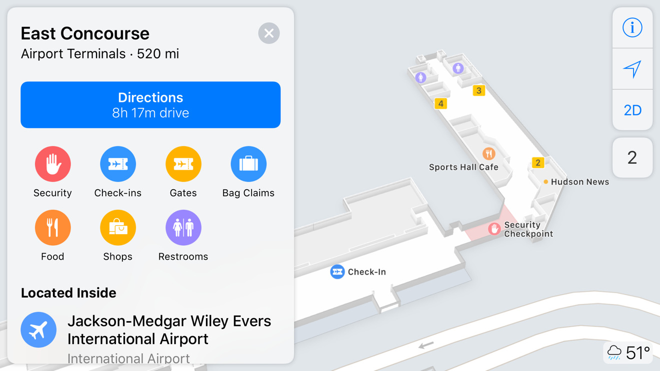 Apple Maps indoor mapping