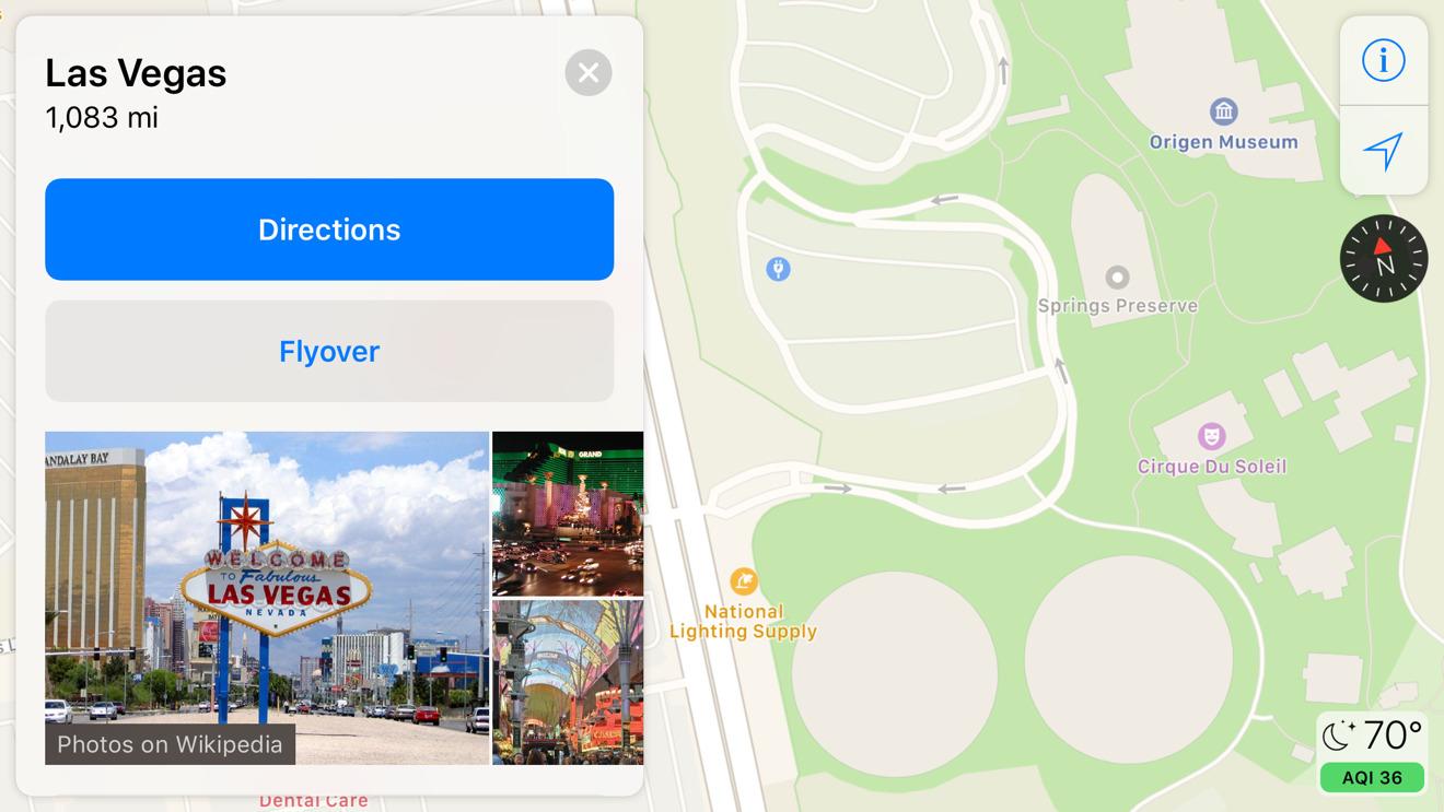Apple Maps Las Vegas