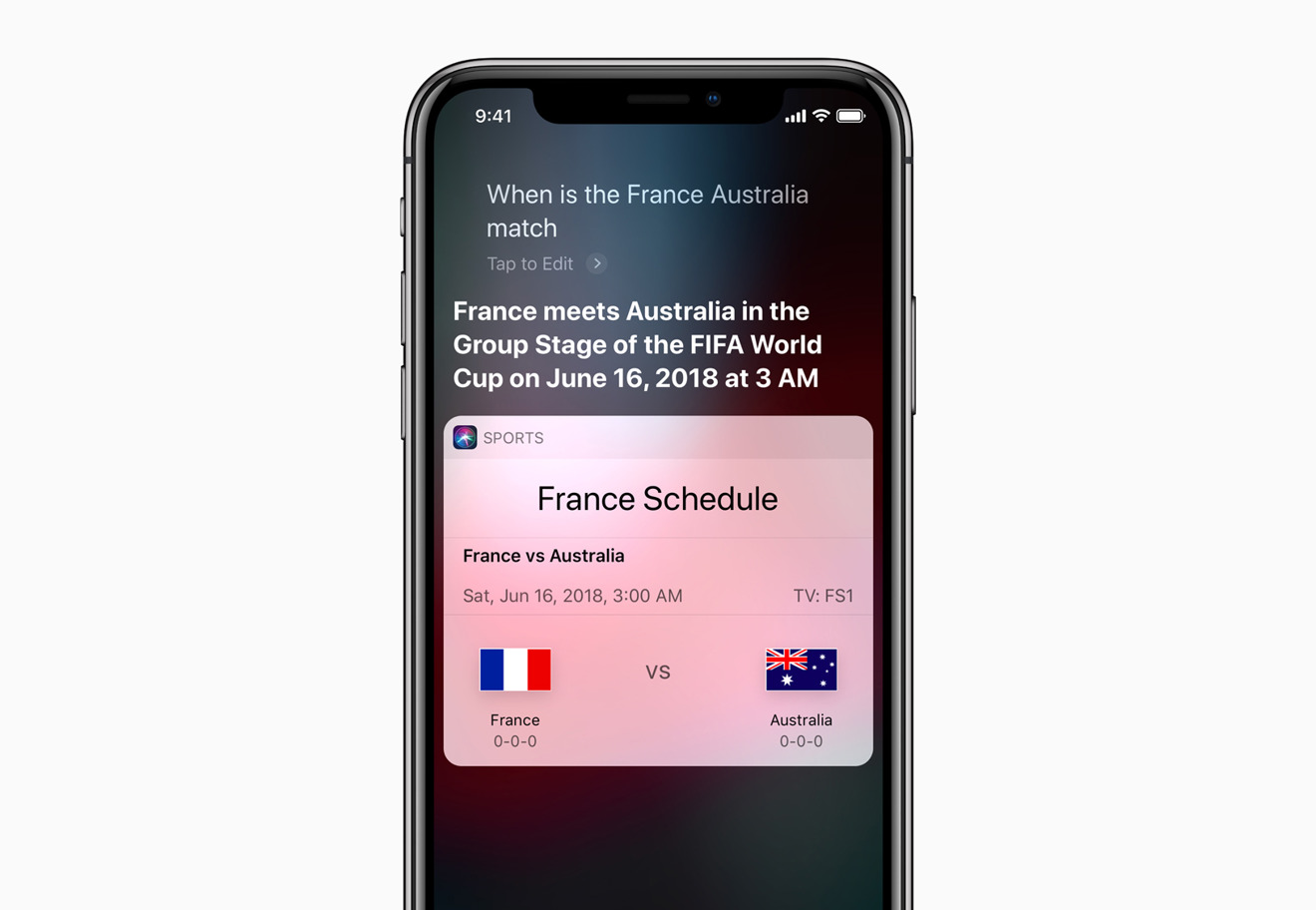 World Cup Siri
