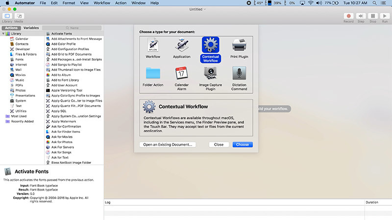 How to create custom Quick Actions in macOS Mojave