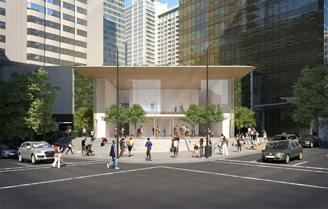 2de9e1566257 Rendering of the proposed CF Pacific Centre outlet.
