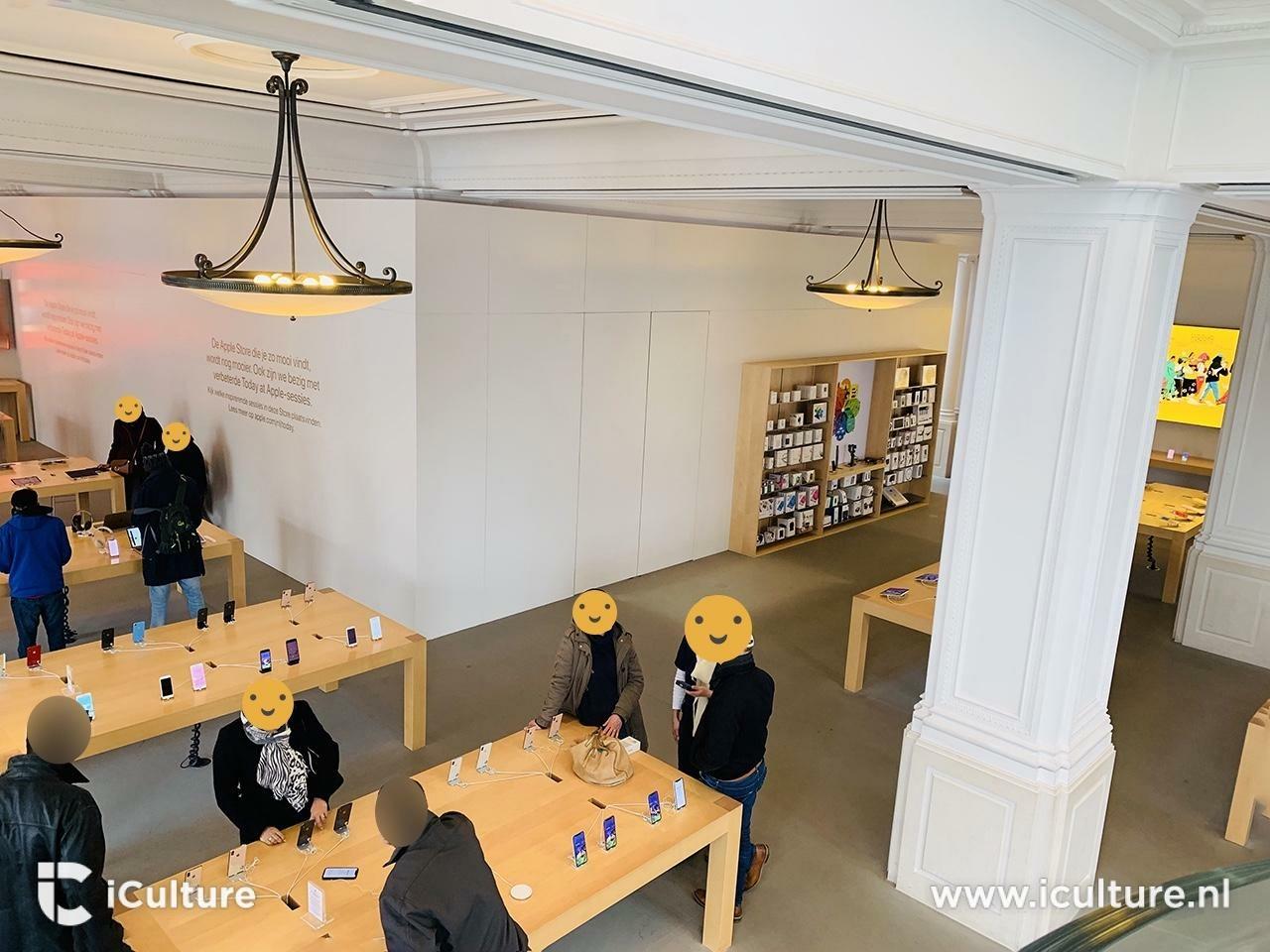 Apple Amsterdam under renovation