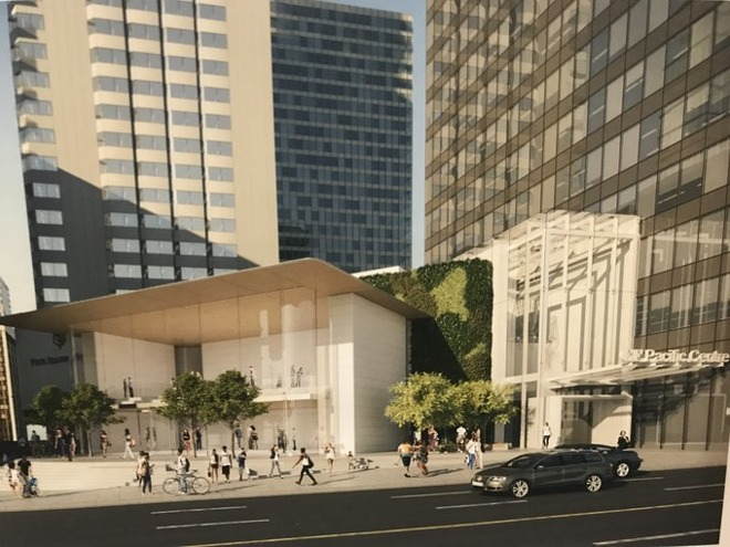 The revised Pacific Centre design. | Image Credit: <a href=