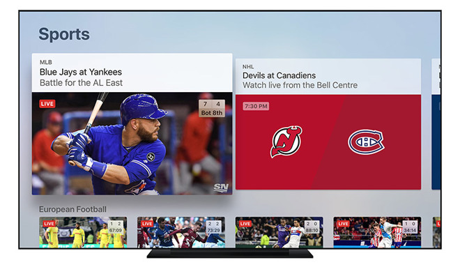 Apple's TV app enables live sports, news coverage in Canada